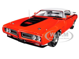 1971 Dodge Charger R/T Sunroof Orange White Top MCACN Limited Edition 1002 pieces Worldwide 1/18 Diecast Model Car Autoworld AMM1148