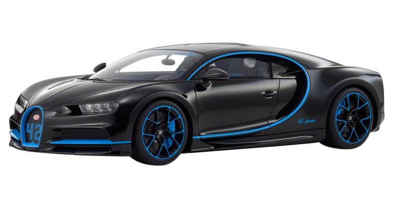Bugatti Chiron 42 Black Limited Edition 300 pieces Worldwide 1/12 Model Car Kyosho KSR08664 BK