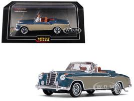 1958 Mercedes Benz 220 SE Light Blue Cream 1/43 Diecast Model Car Vitesse 28625