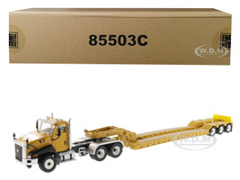 Cat Caterpillar CT660 Day Cab XL 120 Low Profile HDG Lowboy Trailer Operator Core Classics Series 1/50 Diecast Model Diecast Masters 85503 C