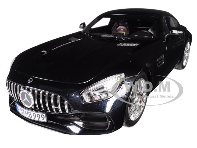 2018 Mercedes AMG GT S Metallic Black 1/18 Diecast Model Car Norev 183497