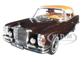 1969 Mercedes Benz 280 SE Cabriolet Dark Brown 1/18 Diecast Model Car Norev 183568