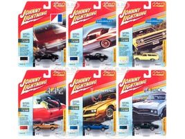 Classic Gold 2018 Release 3 Set A 6 Cars 1/64 Diecast Models Johnny Lightning JLCG015 A