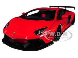 Lamborghini Aventador LB-Works Red Black Wheels 1/18 Model Car Autoart 79108