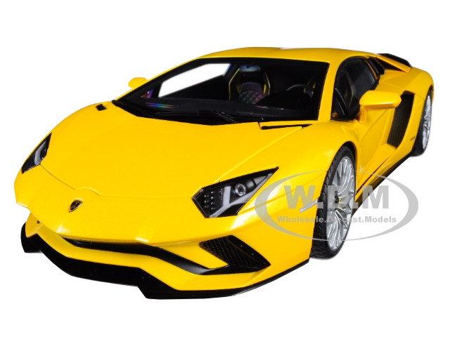 Lamborghini Aventador S New Giallo Orion Pearl Yellow 1/18 Model Car Autoart 79132