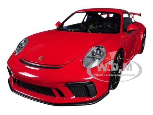 2017 Porsche 911 GT3 Red w Black Wheels in 1:18 Scale by Minichamps