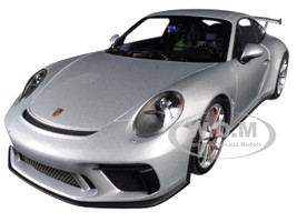 2017 Porsche 911 GT3 Silver Silver Wheels Exclusive Minichamps North America Limited Edition 299 pieces Worldwide 1/18 Diecast Model Car Minichamps 113067024