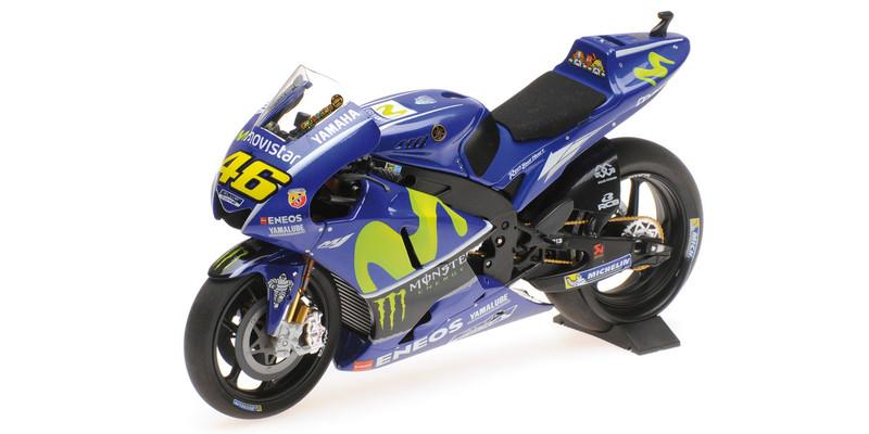 Yamaha YZR-M1 #46 Valentino Rossi Movistar Yamaha Moto GP 2017 Moto GP Motorcycle 1/12 Diecast Model Minichamps 122173046