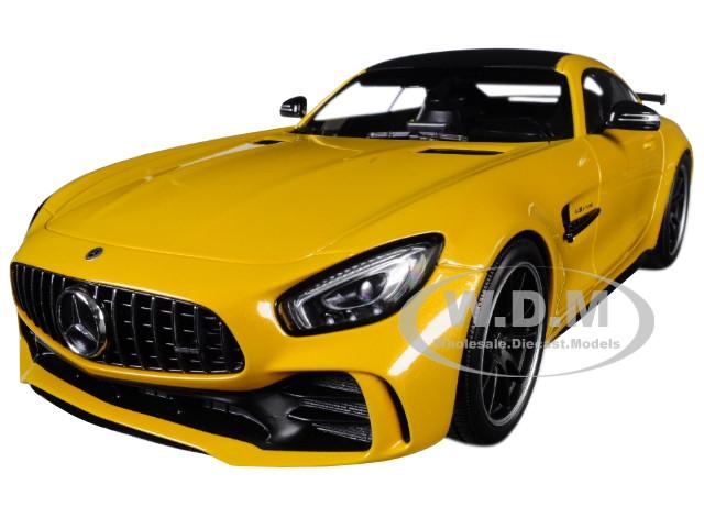 2017 Mercedes AMG GT-R Metallic Yellow Black Top Limited Edition 402 pieces Worldwide 1/18 Diecast Model Car Minichamps 155036021