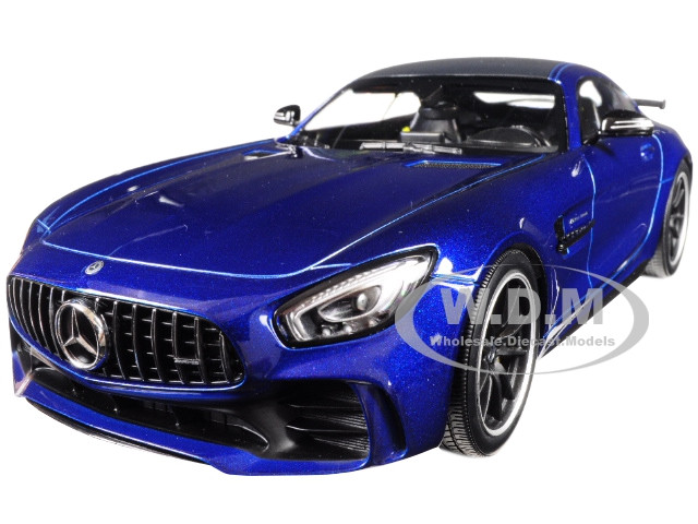 2017 Mercedes AMG GT-R Metallic Blue Black Top Limited Edition 402 pieces Worldwide 1/18 Diecast Model Car Minichamps 155036022
