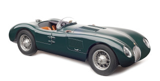 1952 Jaguar C Type British Racing Green 1/18 Diecast Model Car CMC 191