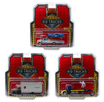 Heavy Duty Trucks Set 3 pieces HD Trucks Series 15 1/64 Diecast Models Greenlight 33150