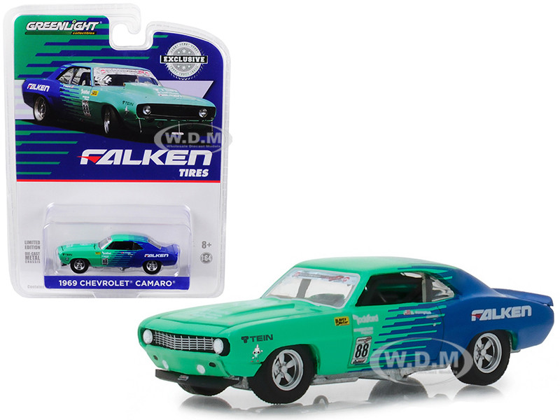 1969 Chevrolet Camaro #88 Falken Tires Hobby Exclusive 1/64 Diecast Model Car Greenlight 29959