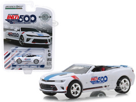 2017 Chevrolet Camaro SS Convertible White 101 Running Indy 500 Presented PennGrade Motor Oil 500 Festival Event Car Hobby Exclusive 1/64 Diecast Model Car Greenlight 30003