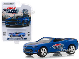 2018 Chevrolet Camaro SS Convertible Blue 102nd Indy 500 Presented PennGrade Motor Oil 500 Festival Event Car Hobby Exclusive 1/64 Diecast Model Car Greenlight 30004