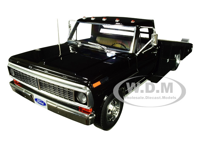 1970 Ford F-350 Ramp Truck Black Limited Edition 1148 pieces Worldwide 1/18 Diecast Model Car ACME A1801400