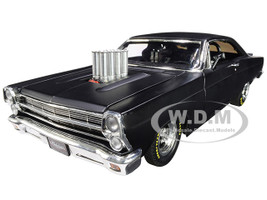 1966 Ford Fairlane Bootleg Pork Chop's Satin Black Limited Edition 630 pieces Worldwide 1/18 Diecast Model Car GMP 18910