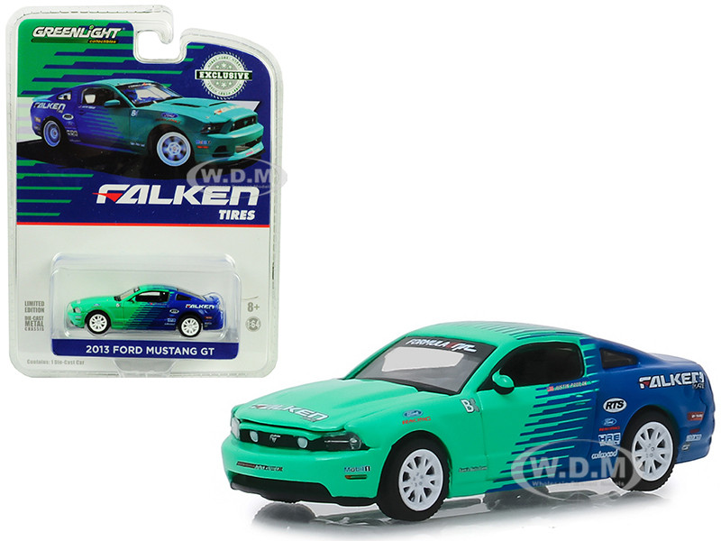2013 Ford Mustang GT Falken Tires Hobby Exclusive 1/64 Diecast Model Car Greenlight 29972