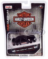 1993 Ford SVT Cobra Black Harley Davidson 1/64 Diecast Model Car Maisto 15414-HD2