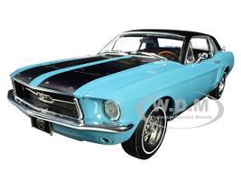 1967 Ford Mustang Coupe Turquoise Detachable Ski Equipment Ski Country Special 1/18 Diecast Model Car Greenlight 13535