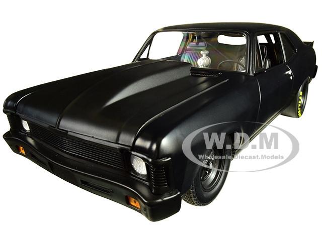 1969 Chevrolet Nova Blackout 1320 Kings Satin Black Limited Edition 570 pieces Worldwide 1/18 Diecast Model Car GMP 18915