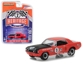 1968 Ford Mustang Shelby #1 TA Jerry Titus Ronnie Bucknum Red Black Hood Ford Racing Heritage Series 2 1/64 Diecast Model Car Greenlight 13220 F