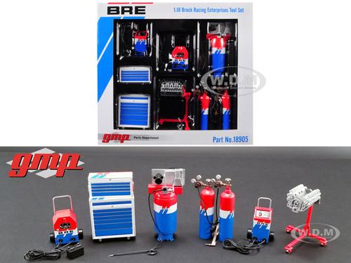 6 piece Garage Shop Tools Set #1 Brock Racing Enterprises BRE 1/18 Diecast Replica GMP 18905