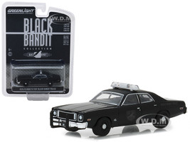 1975 Plymouth Fury Black Bandit Police Black Bandit Series 20 1/64 Diecast Model Car Greenlight 27960 D