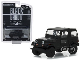 1976 Jeep CJ-7 Black Bandit Series 20 1/64 Diecast Model Car Greenlight 27960 F