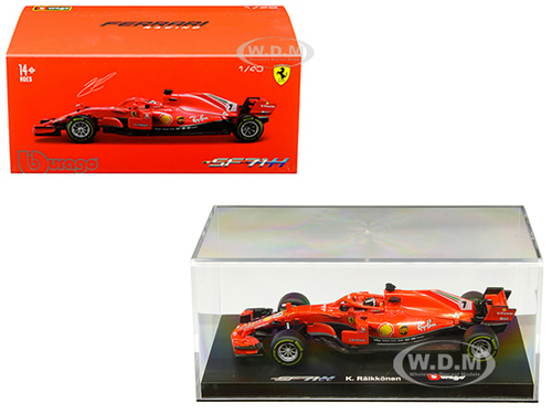 Ferrari Racing SF71H #7 Kimi Raikkonen 1/43 Diecast Model Car Bburago 36808 KR