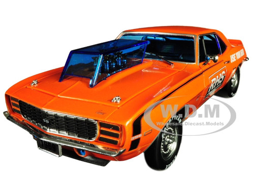 1969 Chevrolet Camaro SS/RS 396 RHS Metallic Orange Black Stripes Detroit Muscle Limited Edition 5880 pieces Worldwide 1/24 Diecast Model Car M2 Machines 40300-65 A