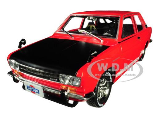 1970 Datsun 510 Red White Stripes Black Hood Auto Japan Limited Edition 5800 pieces Worldwide 1/24 Diecast Model Car M2 Machines 40300-JPN02 A
