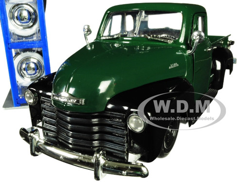 1953 Chevrolet 3100 Pickup Truck Green Extra Wheels Just Trucks Series 1/24 Diecast Model Car Jada 30521