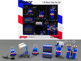 Garage Shop Tools MOPAR Set 6 pieces 1/18 Diecast Replica GMP 18918