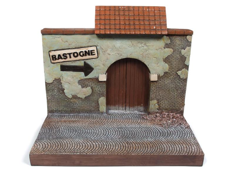 Bastogne Resin Backdrop Display Greatest Generation Series 1/18 Scale Models Autoworld AWBD001 B