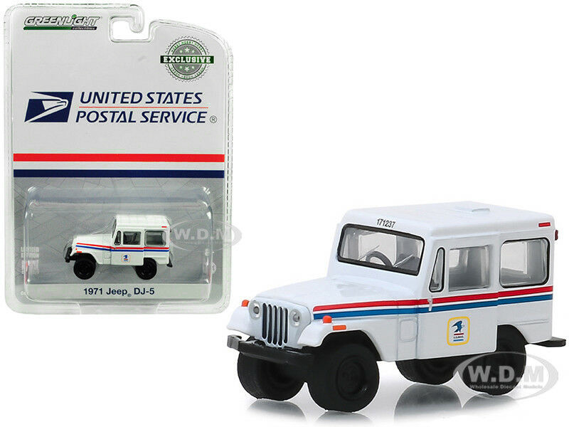1971 Jeep DJ-5 United States Postal Service USPS White Hobby Exclusive 1/64 Diecast Model Car Greenlight 29997