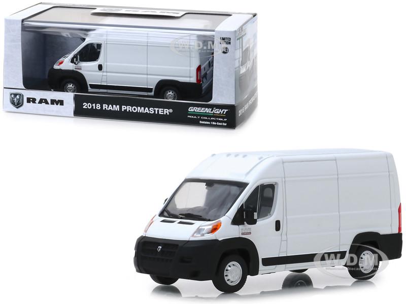 2018 Dodge Ram ProMaster 2500 Cargo Van High Roof Bright White 1/43 Diecast Model Greenlight 86152