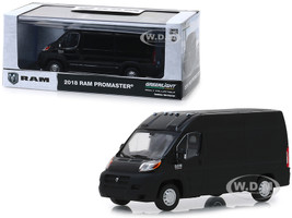2018 RAM ProMaster 2500 Cargo Van High Roof Brilliant Black 1/43 Diecast Model Car Greenlight 86153