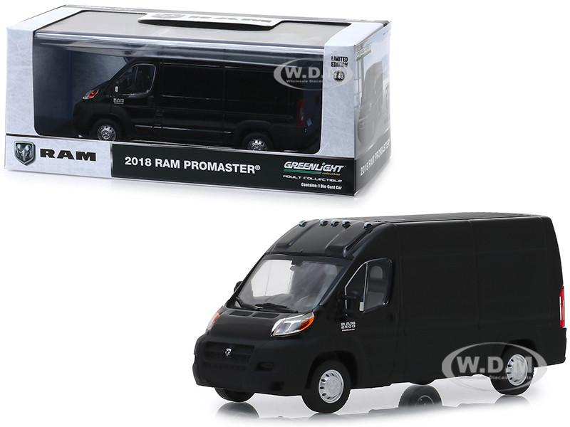 2018 RAM ProMaster 2500 Cargo Van High Roof Brilliant Black 1/43 Diecast Model Car Greenlight 86153