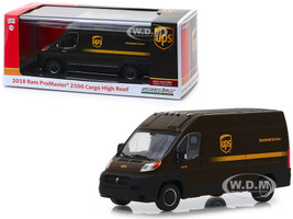 2018 Dodge Ram ProMaster 2500 Cargo High Roof United Parcel Service UPS Worldwide Services Dark Brown 1/43 Diecast Model Car Greenlight 86156