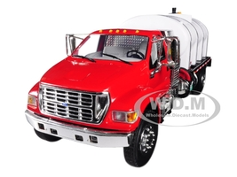 Ford F-650 Roto Molded Water Tank Truck Red White 1/34 Diecast Model First Gear 10-4152