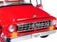 "International C1100 ""International Trucks"" Pickup Truck Red with Black Top 1/25 Diecast Model Car First Gear 40-0427"