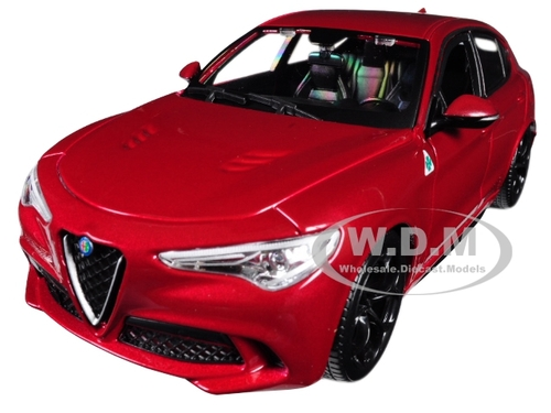 Alfa Romeo Stelvio Quadrifoglio Red 1/24 Diecast Model Car Bburago 21086