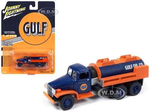 GMC CCKW 2 1/2 ton 6x6 Tanker Truck Gulf Oil Limited Edition 1416 pieces Worldwide 1/87 Diecast Model Johnny Lightning JLSP058