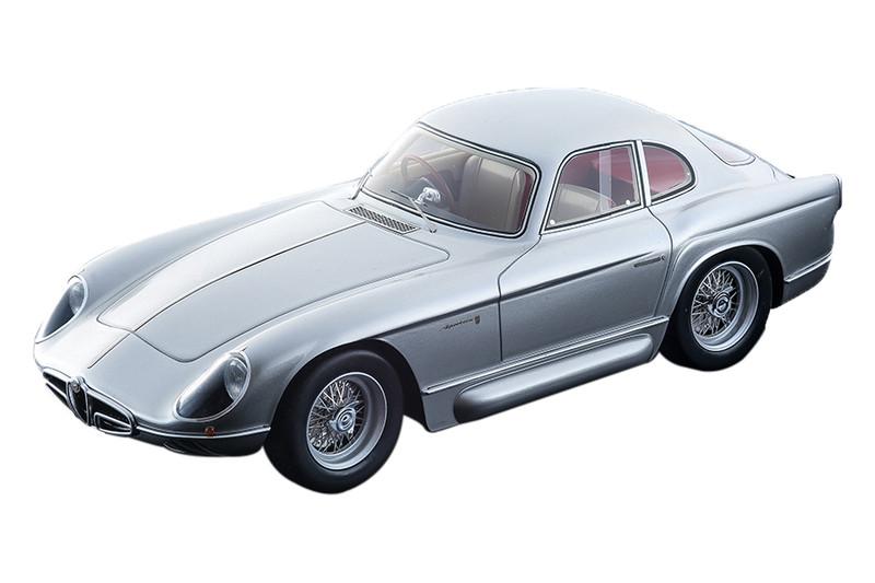 1954 Alfa Romeo 2000 Sportiva Bertone Metallic Silver Mythos Series Limited Edition 100 pieces Worldwide 1/18 Model Car Tecnomodel TM18-140 B