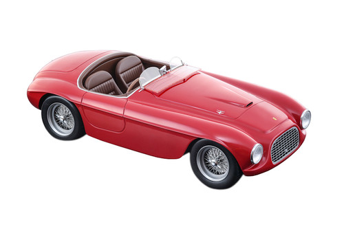 1949 Ferrari 166MM Press Red Rocco Corsa Carrozzeria Touring Superleggera Limited Edition 100 pieces Worldwide Mythos Series 1/18 Model Car Tecnomodel TM18-52 A