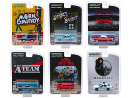 Hollywood Series Release 23 Set 6 Cars 1/64 Diecast Models Greenlight 44830