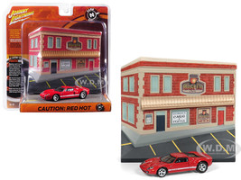 2005 Ford GT Red Resin Cafe Front Facade Cars and Coffee Diorama 1/64 Diecast Model Car Johnny Lightning JLDR004