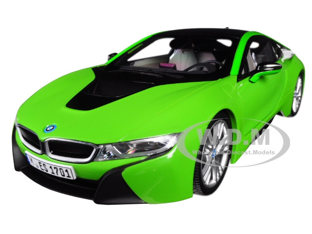 BMW i8 Java Green with Black Top 1/18 Diecast Model Car by Paragon