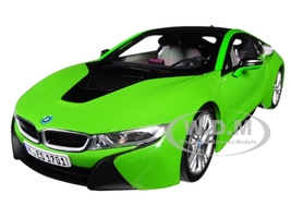 BMW i8 Java Green Black Top 1/18 Diecast Model Car Paragon 97086